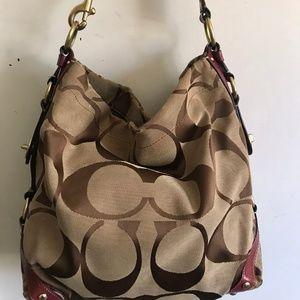 COACH Medium Interwoven Jacquard Bag
